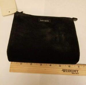 Kate Spade Black Velvet Cosmetic Case